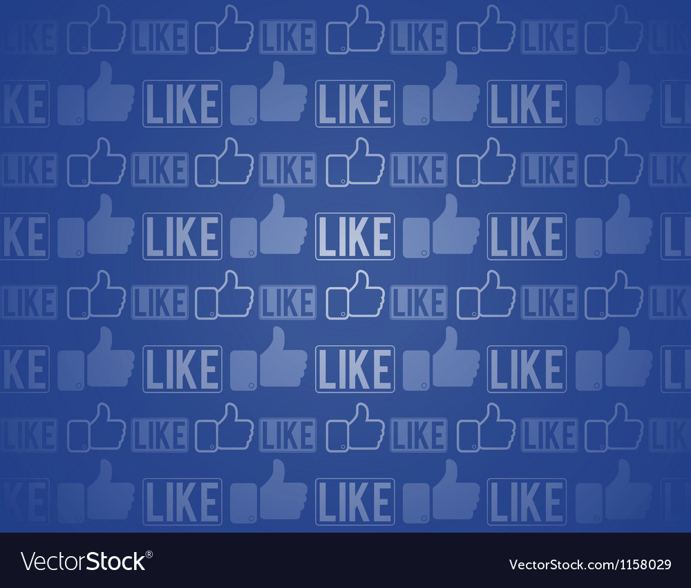 Like Thumbs Up seamless background vector image