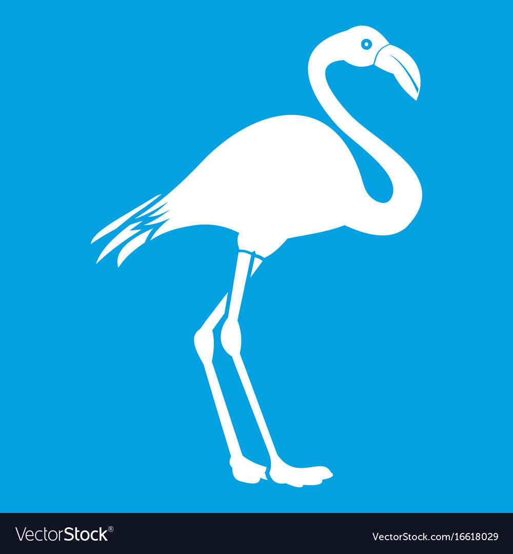 Flamingo icon white vector image