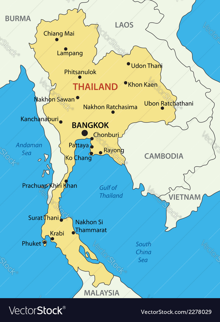 Kingdom of thailand map royalty free vector image kingdom of thailand map vector image gumiabroncs Images