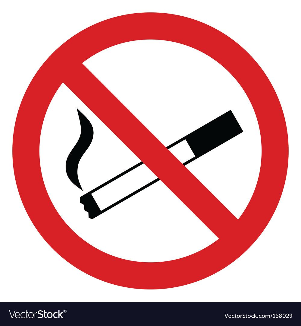 No smoking sign vector image
