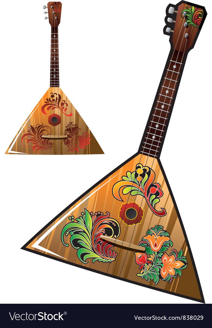 Russian national music instrument - balalaika vector image
