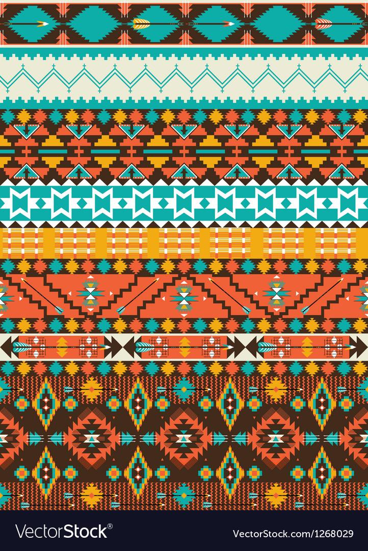 Seamless navajo geometric pattern vector image