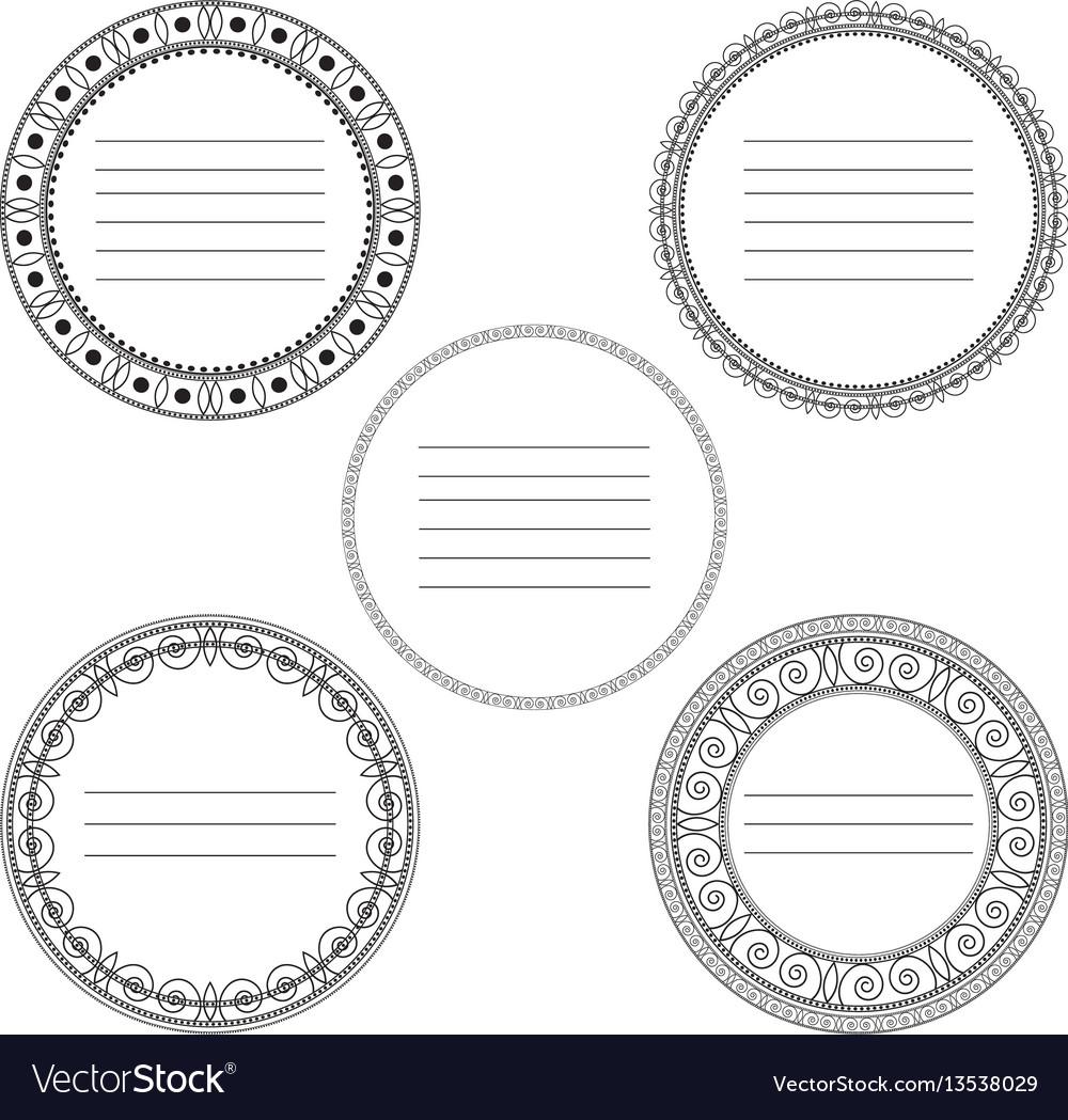 Simple geometric ornaments vector image