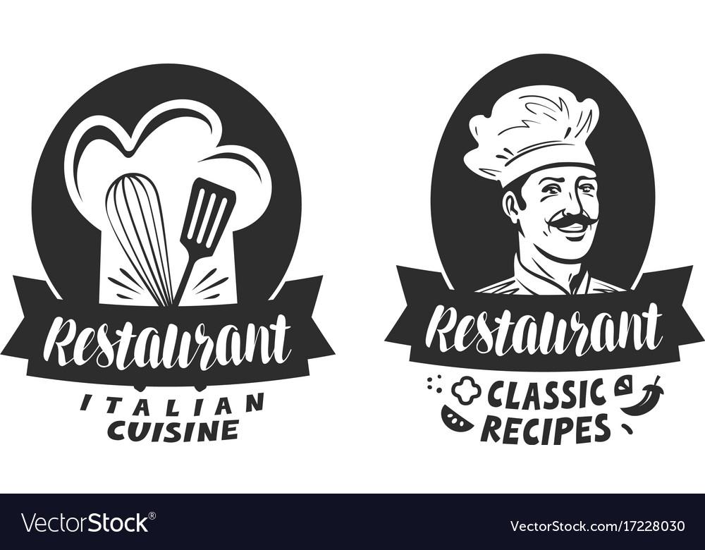 Logo of restaurant eatery diner bistro label vector image