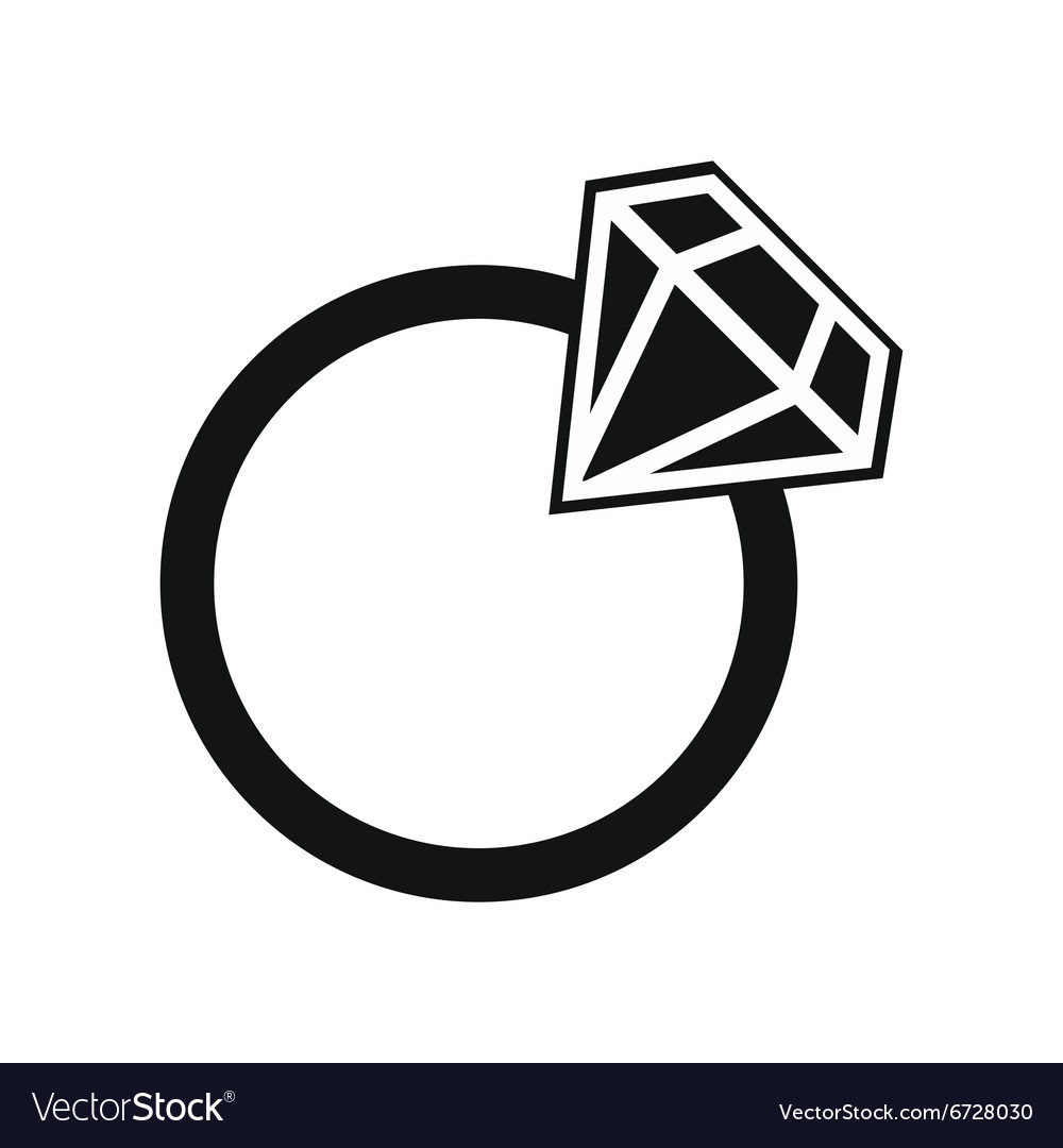 Wedding rings vector  Simple wedding ring Royalty Free Vector Image - VectorStock