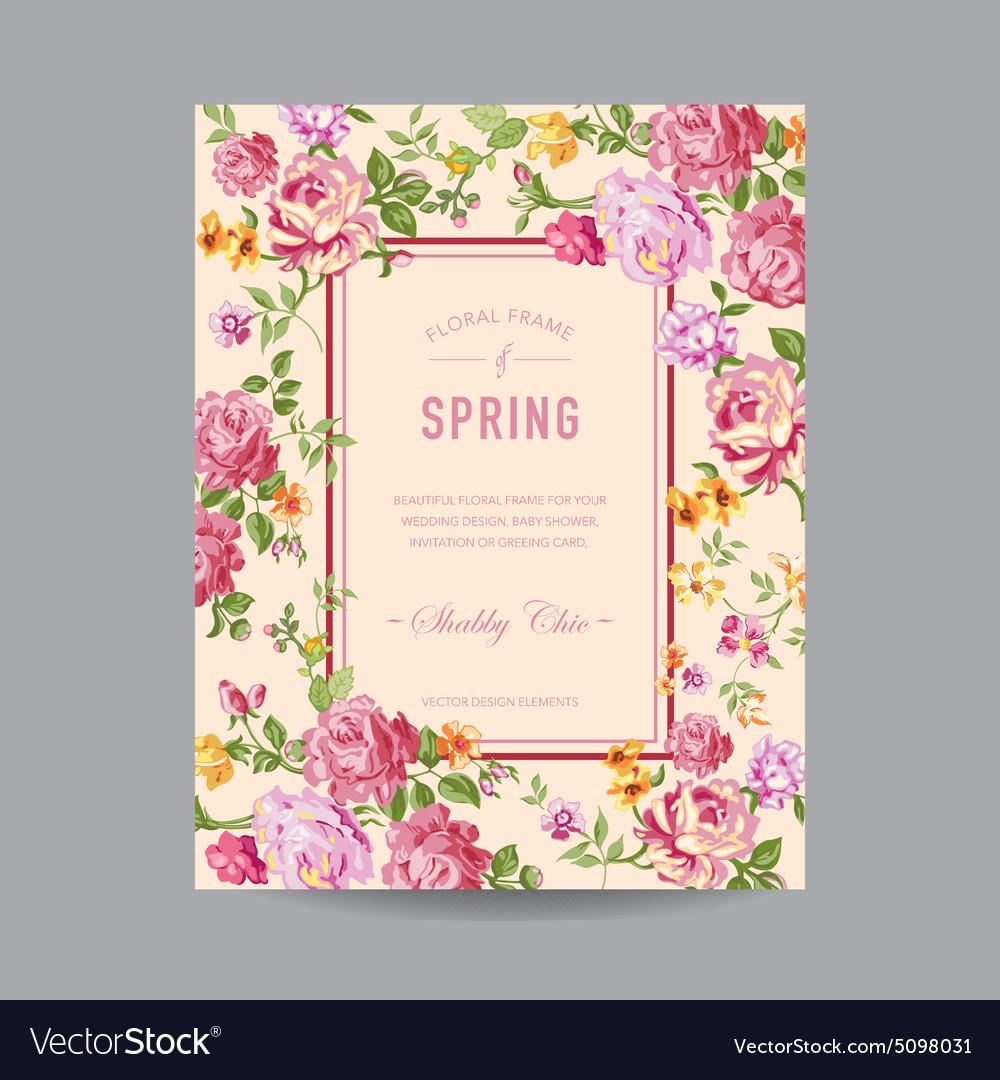 Vintage floral frame for invitation wedding vector image vintage floral frame for invitation wedding vector image stopboris Choice Image