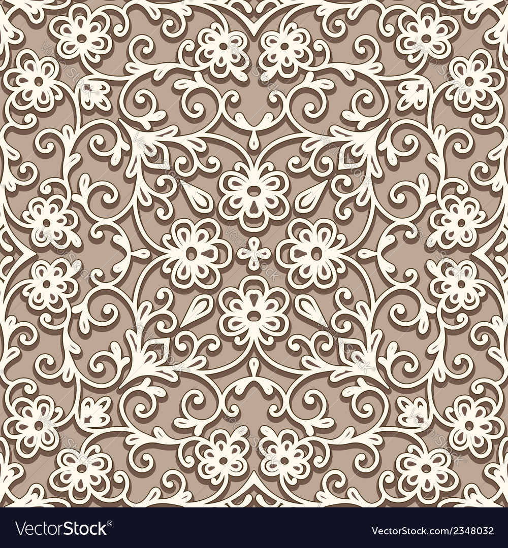 Beige seamless pattern vector image