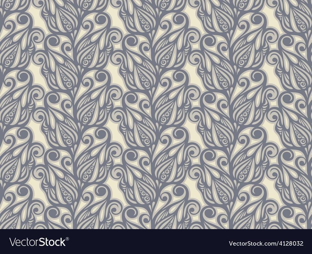 Floral design seamless in vintage style vector image