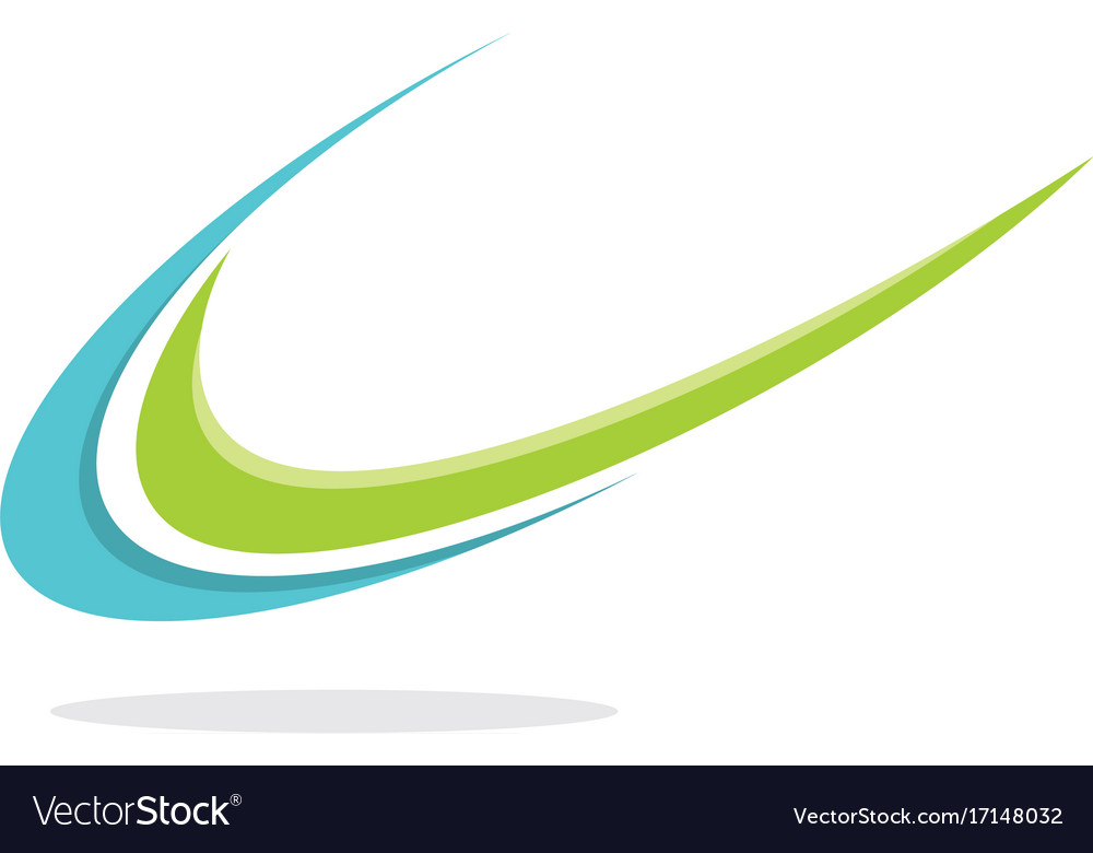 Swoosh unique logo vector image