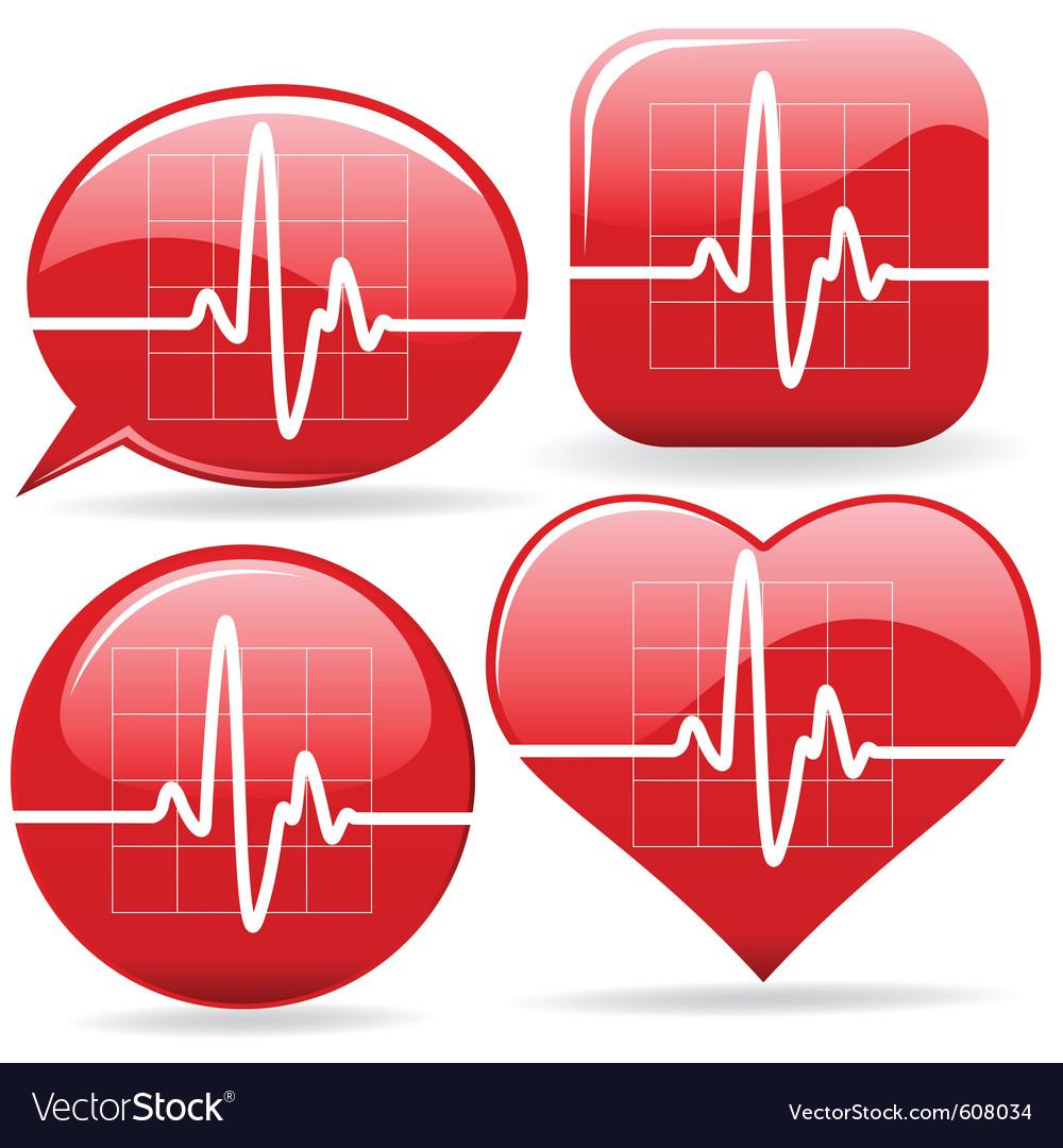 Electronic cardiograms vector image