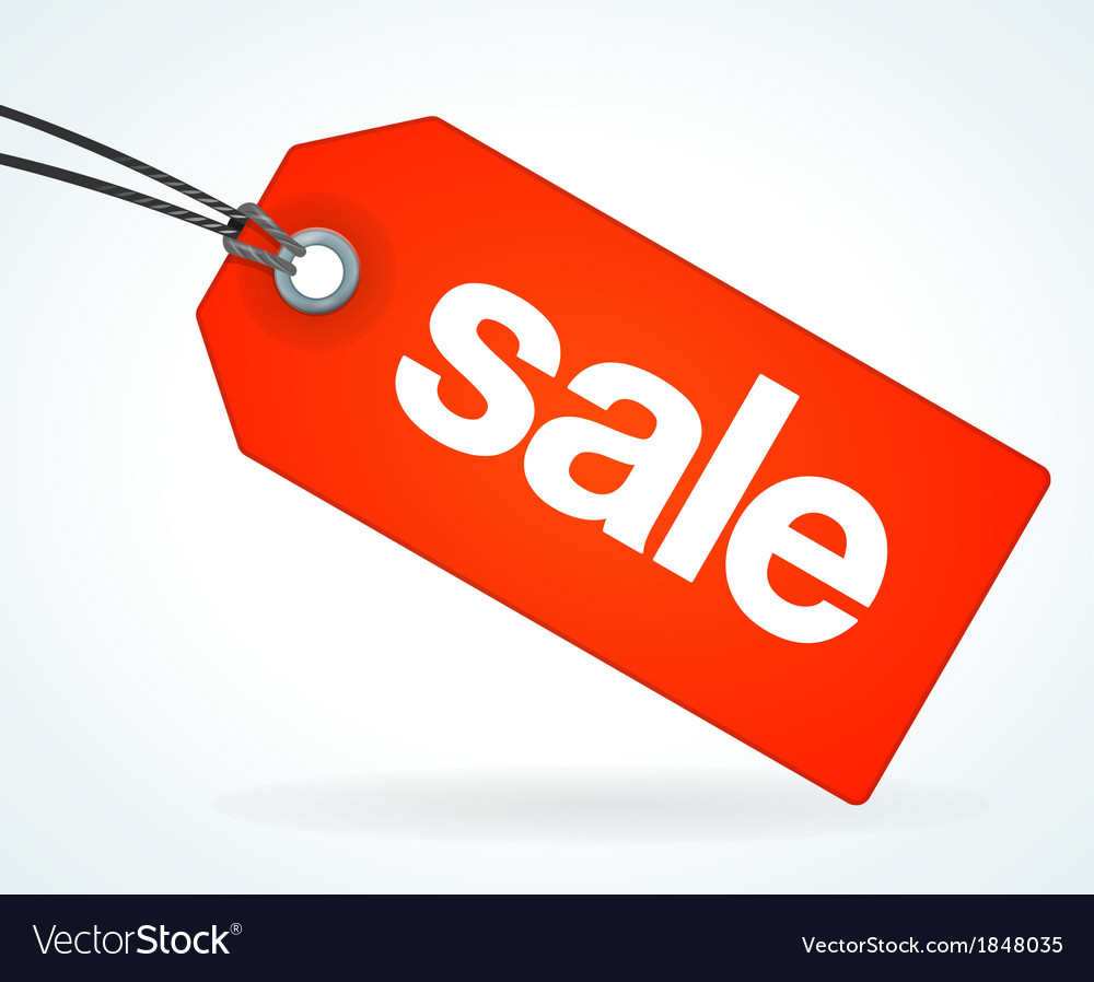 Red Sale Tag vector image