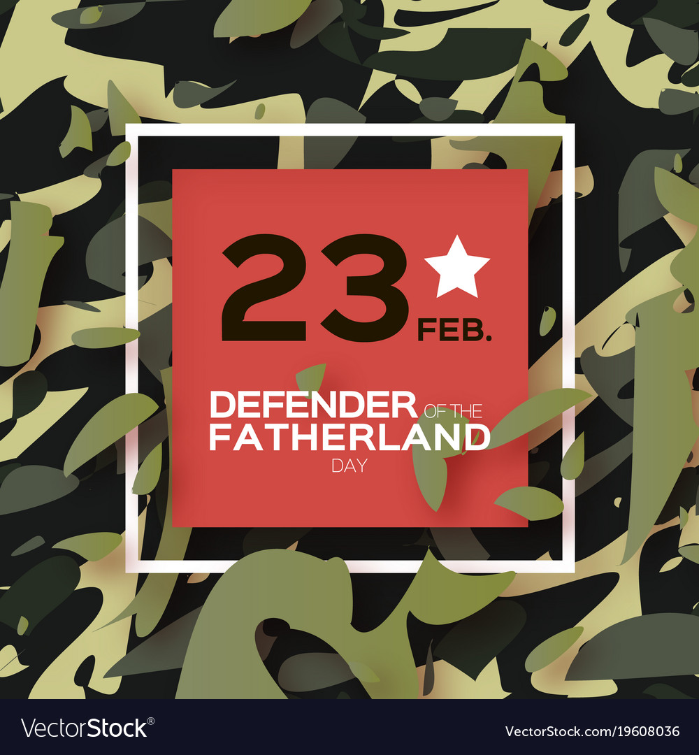 Defender of the fatherland day 23 february vector image