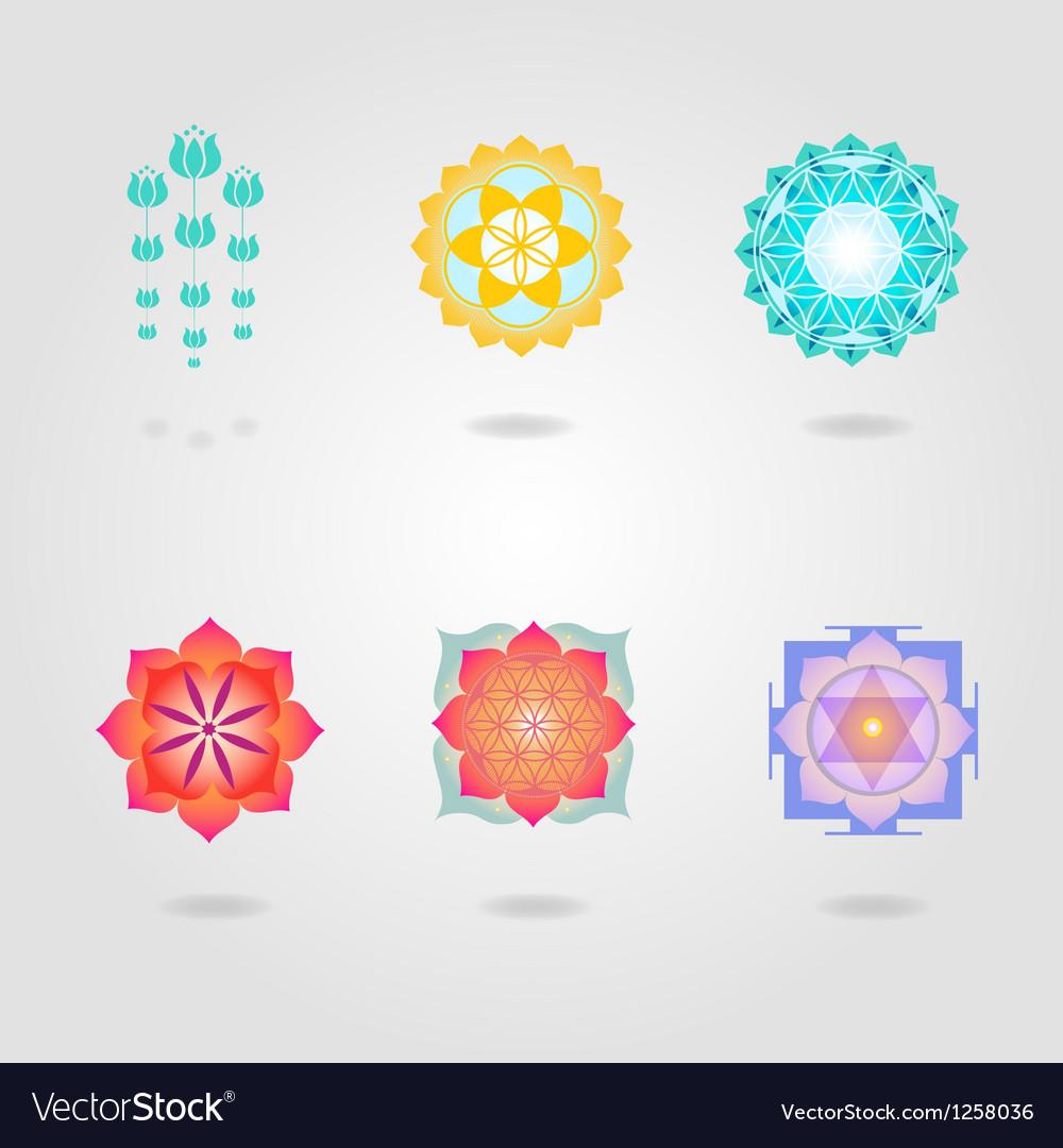 Mini Mandalas set vector image