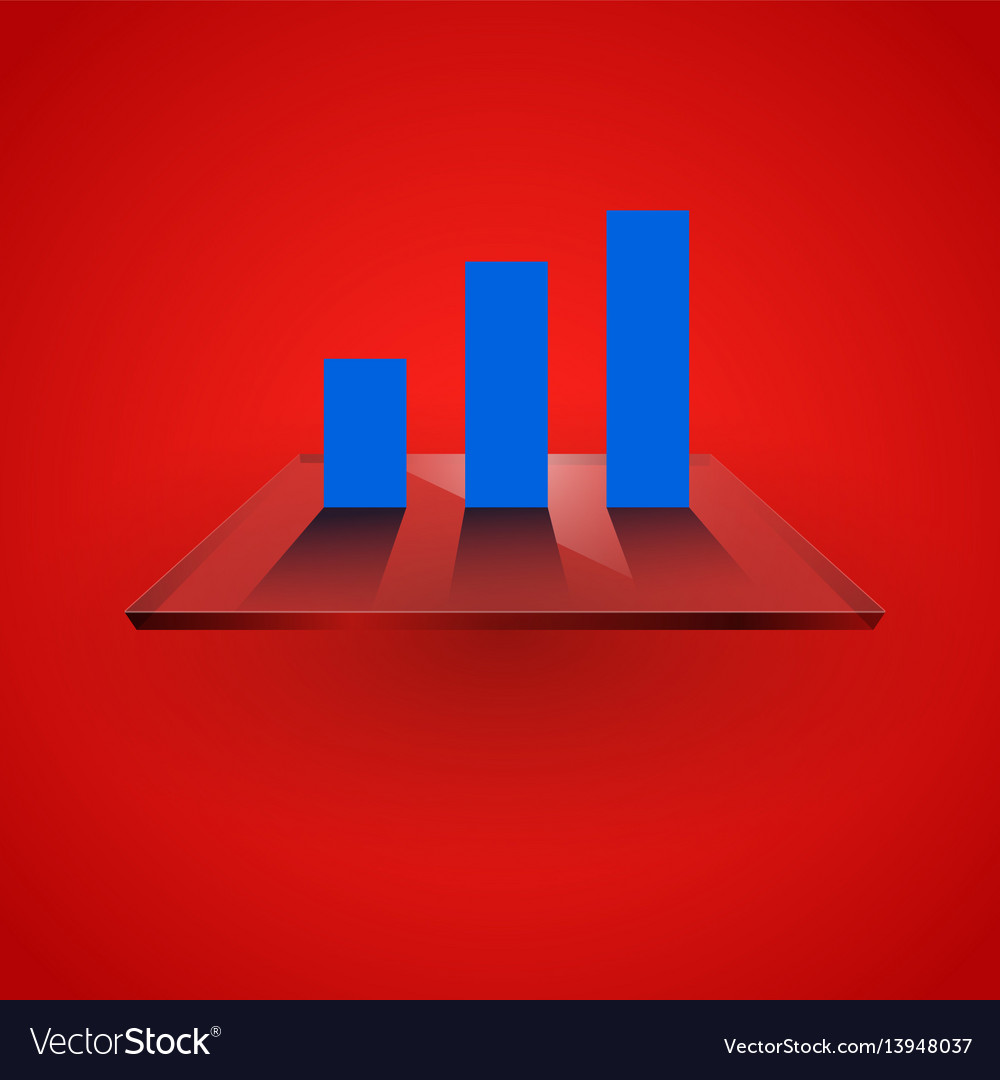 Graph chart on glass vector image
