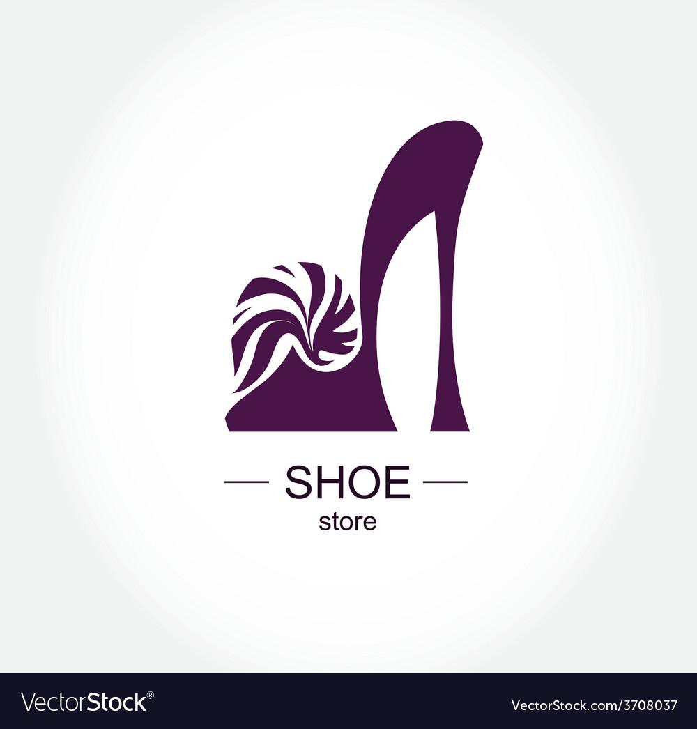 Logo shoe store shop fashion collection boutique vector image