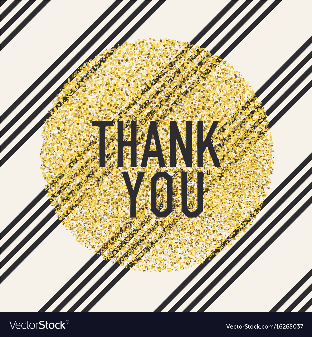 Thank you invitation card design template vector image