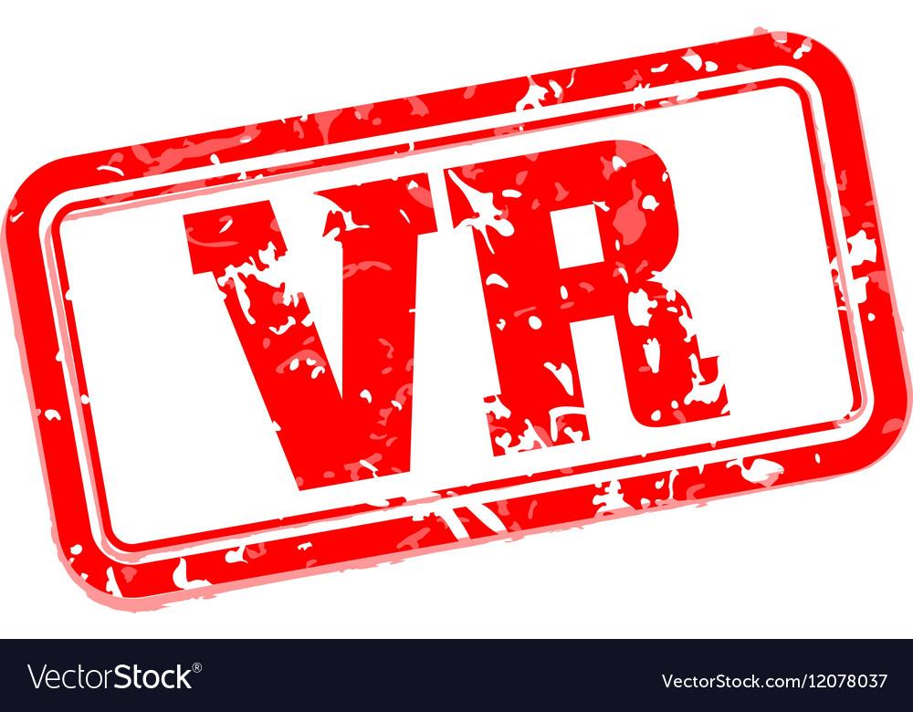 VR rubber stamp vector image