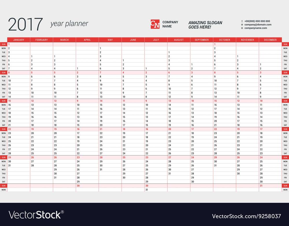 free year planner