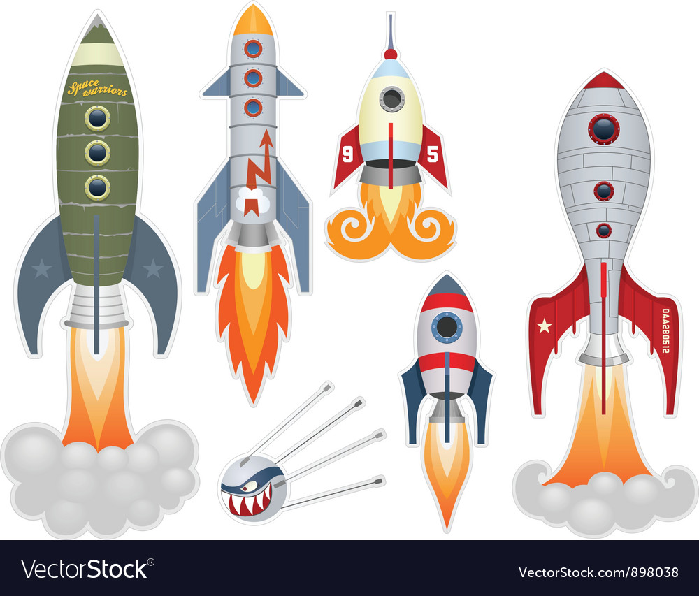 Rockets vector image