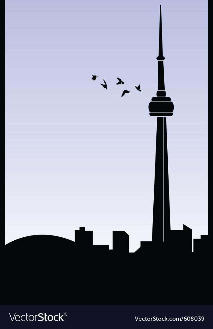 Toronto vector image