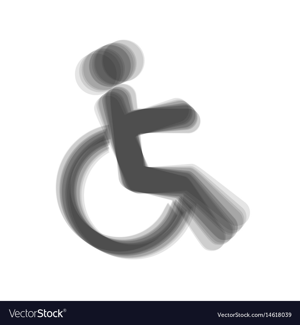 Disabled sign gray icon vector image
