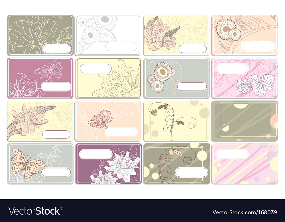 Set of cute business cards Royalty Free Vector Image