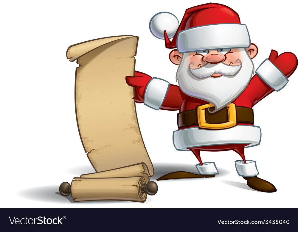 Happy Santa Gift List vector image