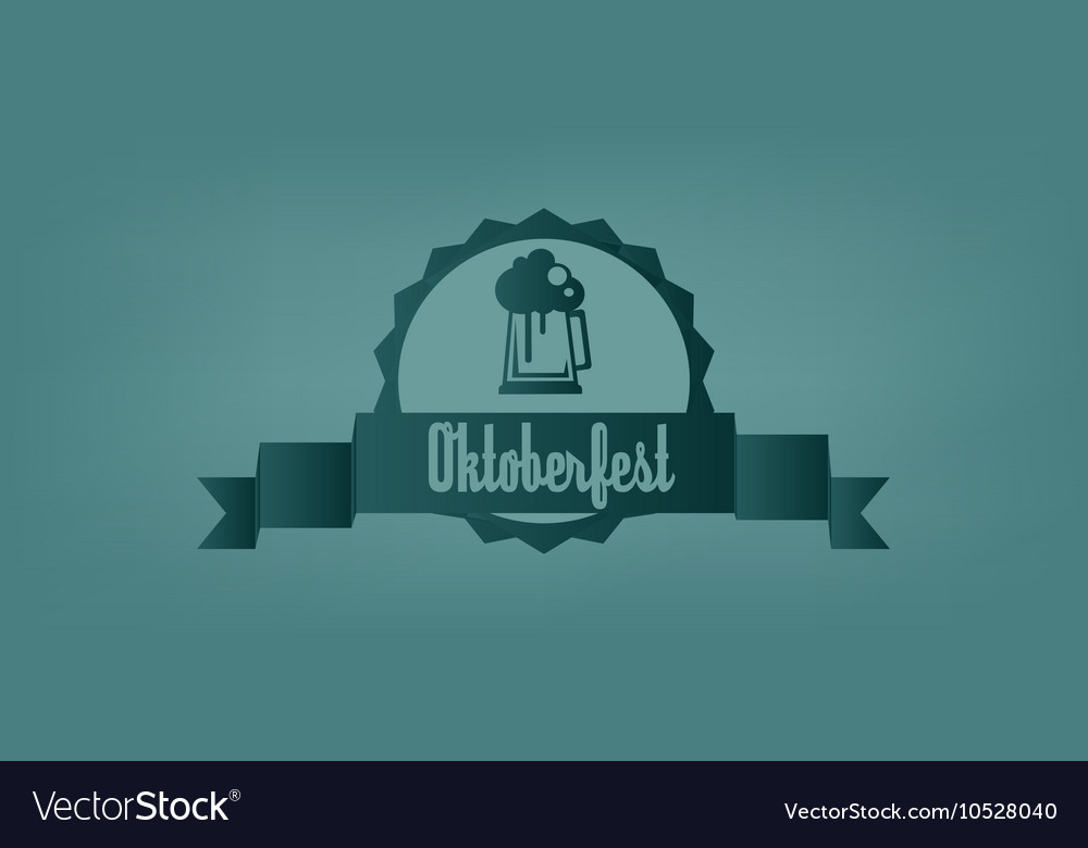 Oktoberfest beer festival with a beer glass vector image