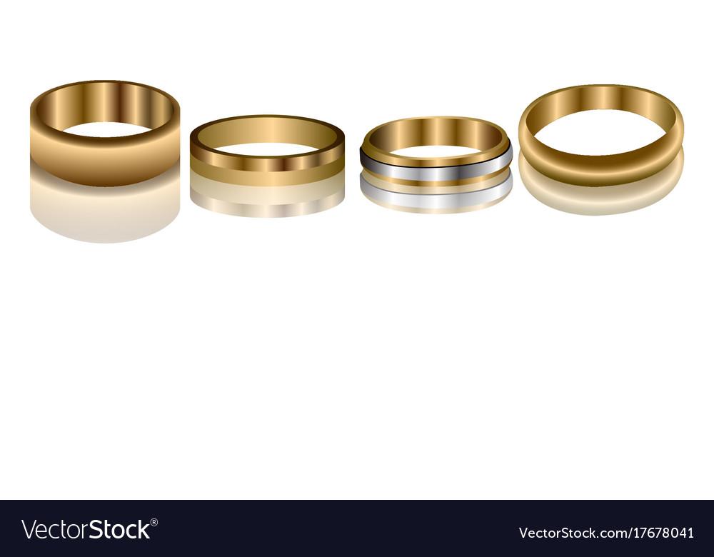 Set of golden rings Royalty Free Vector Image - VectorStock