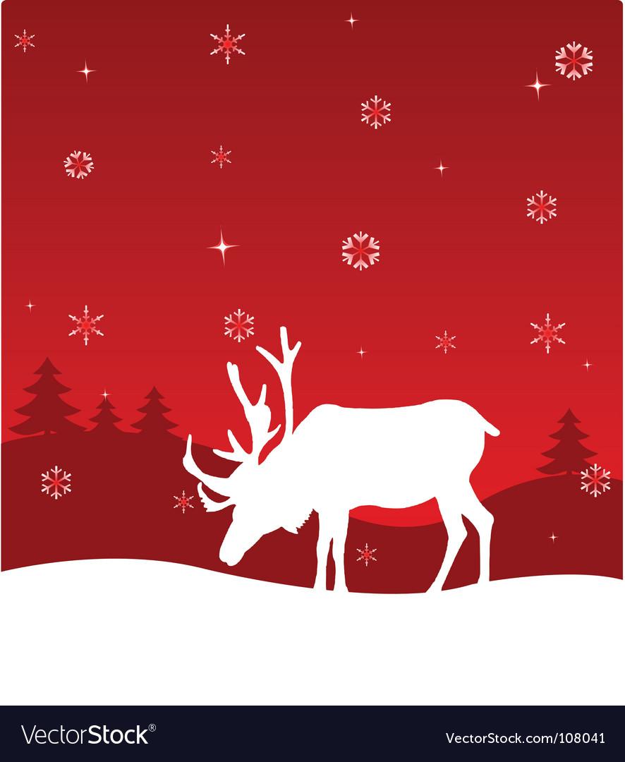 Winter deer vector image