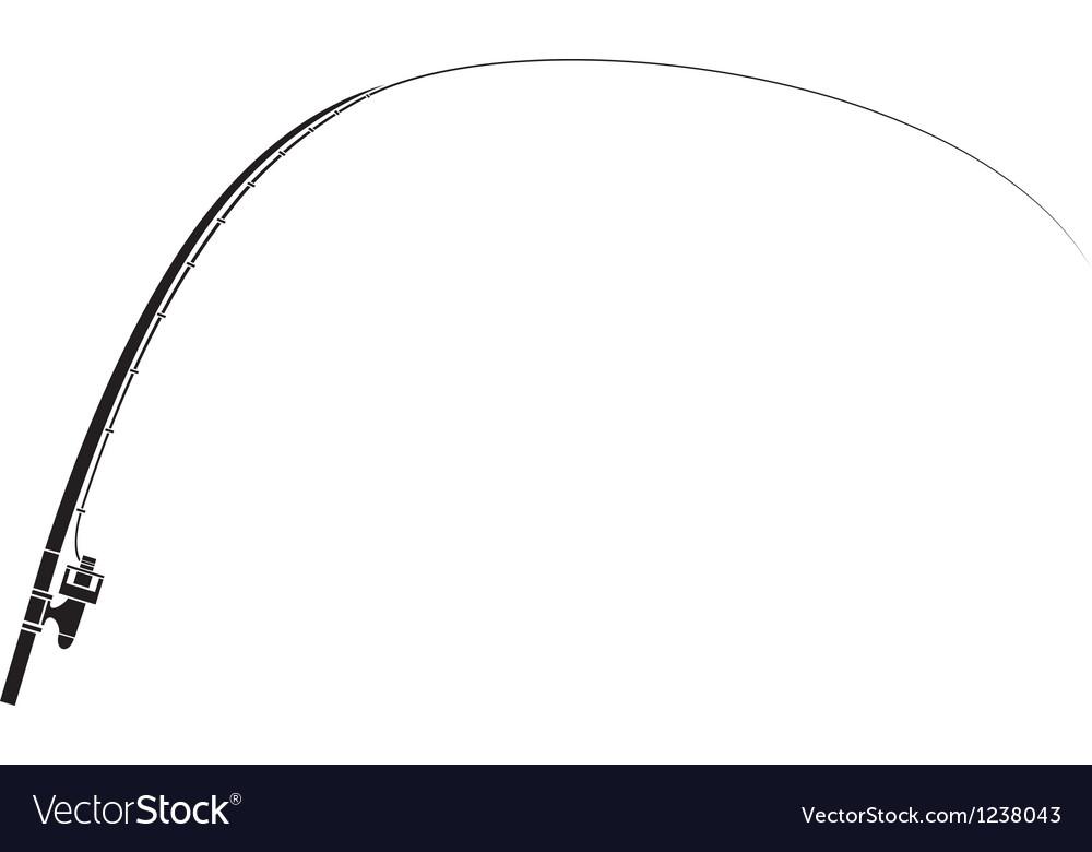 Isolated fishing rod vector image