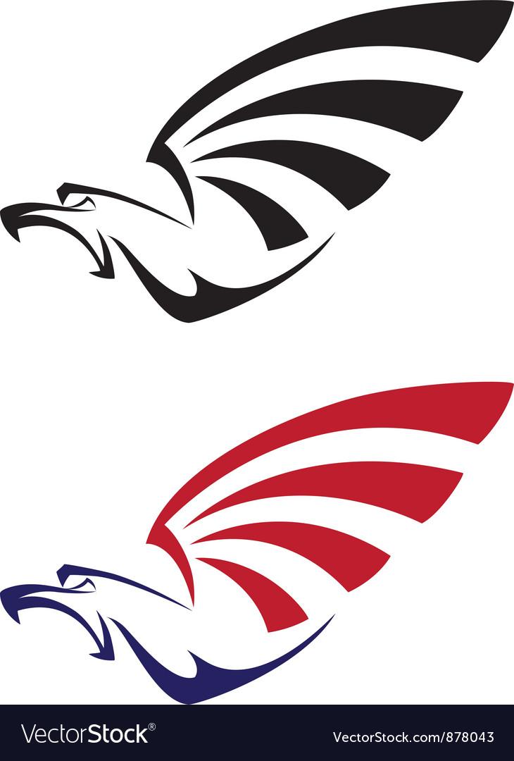 Set eagle vector image