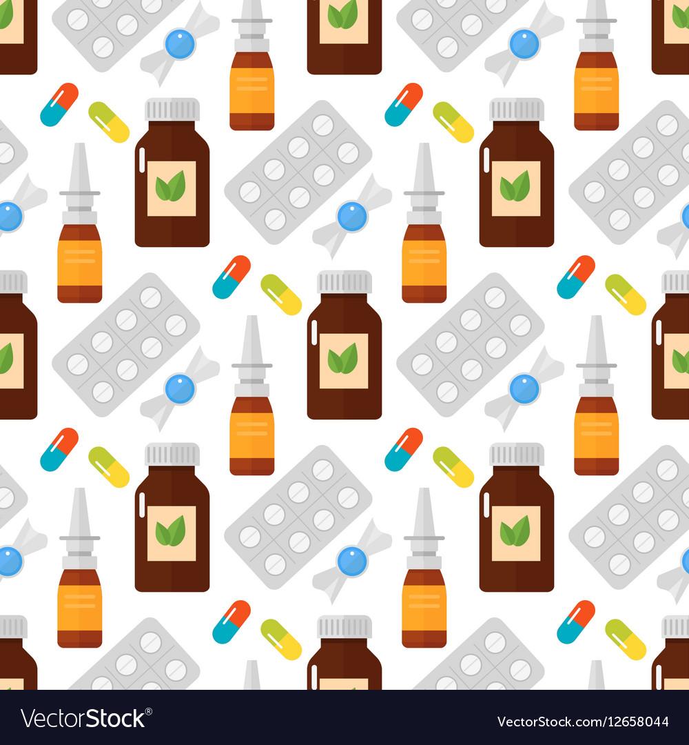 Pills seamless pattern vector image