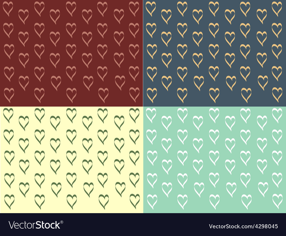 Vintage design heart vector image