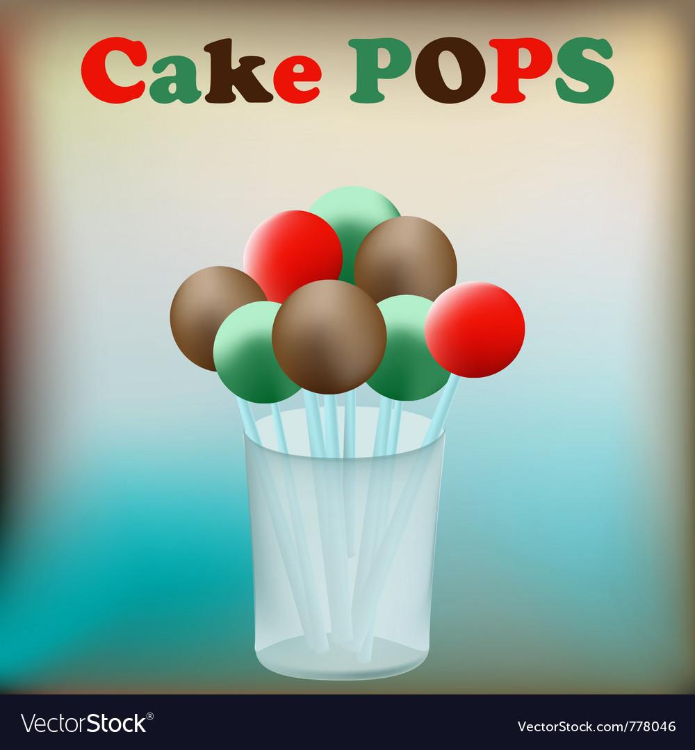 Cake pops vector image