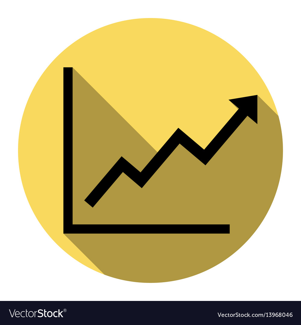 Growing bars graphic sign flat black icon vector image