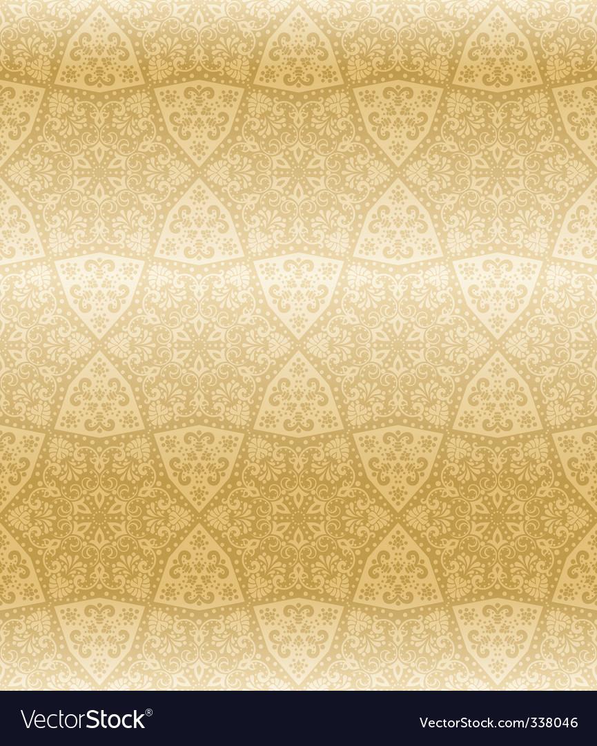 Sepia seamless arabesque vector image