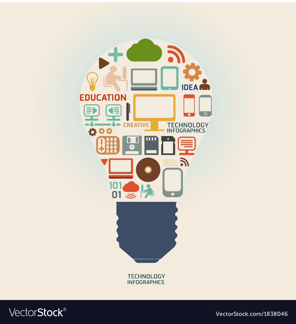 Technology design template vector image