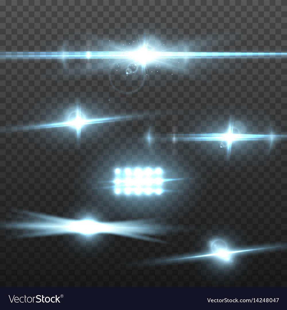 Transparent lens flare effect vector image
