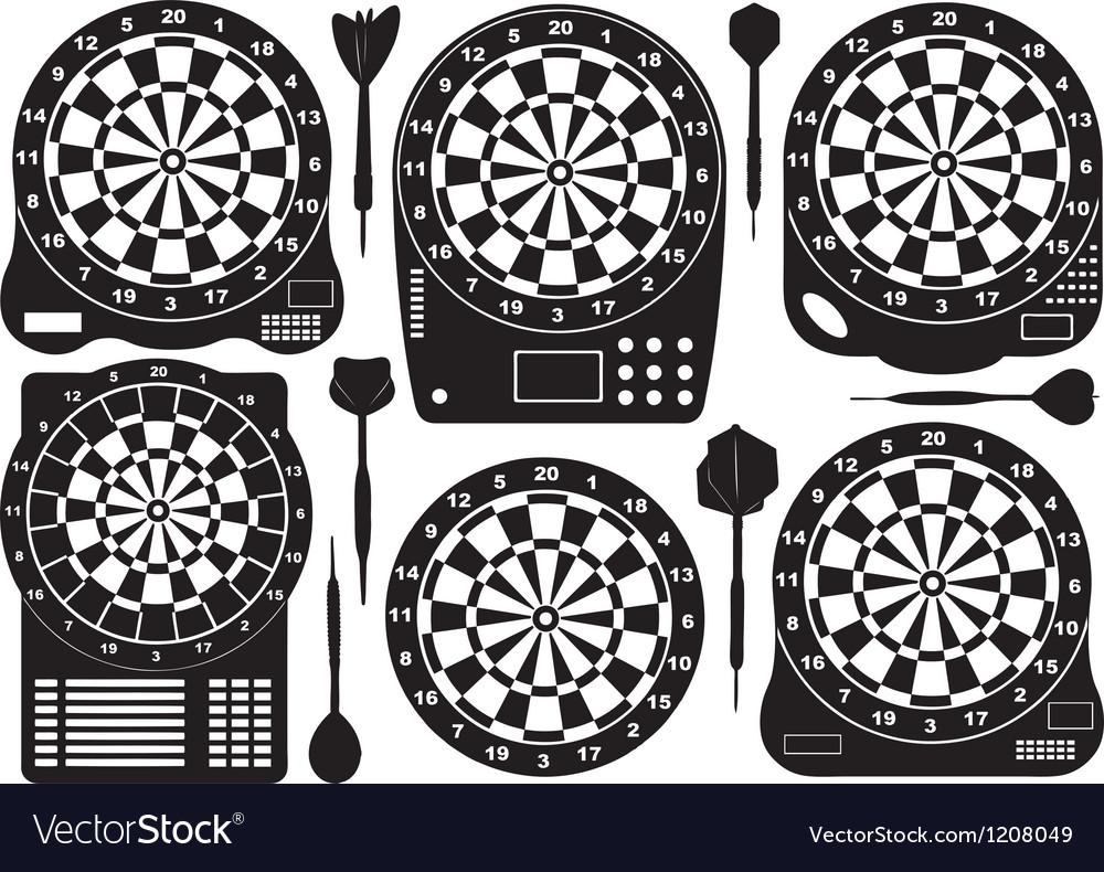 Set Of Electronic Dartboards vector image