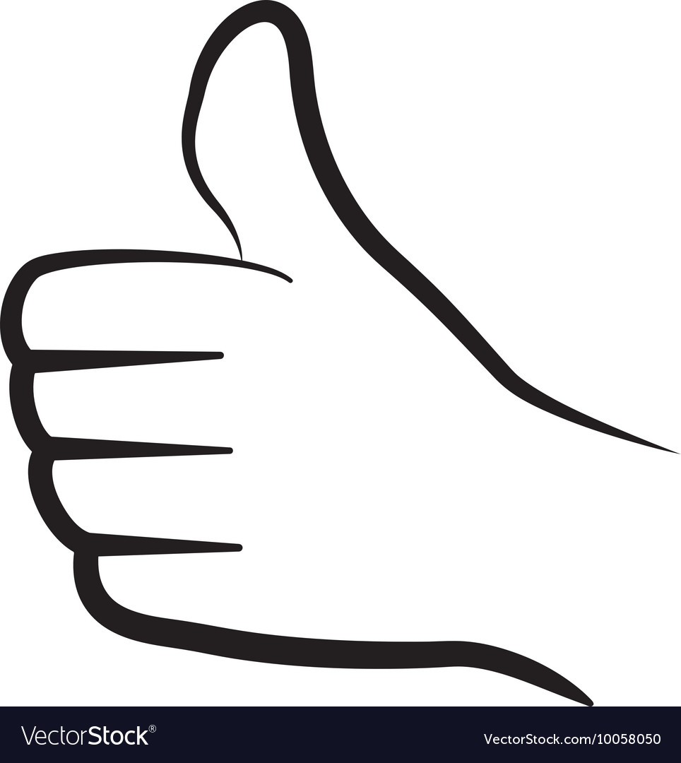Thumbs up icon Hand design graphic vector image