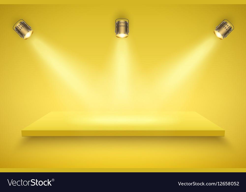 Yellow Presentation platform vector image