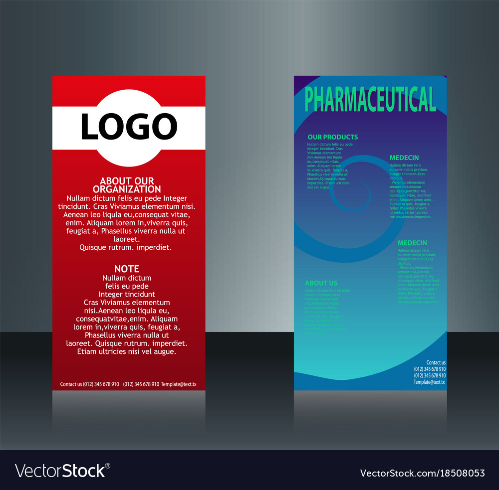 Collection of 2 abstract medical business cards Vector Image