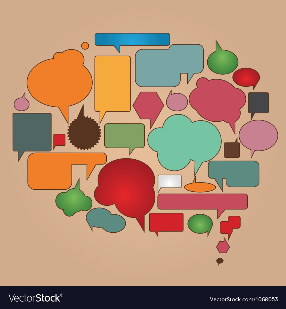 Color dialog bubbles vector image