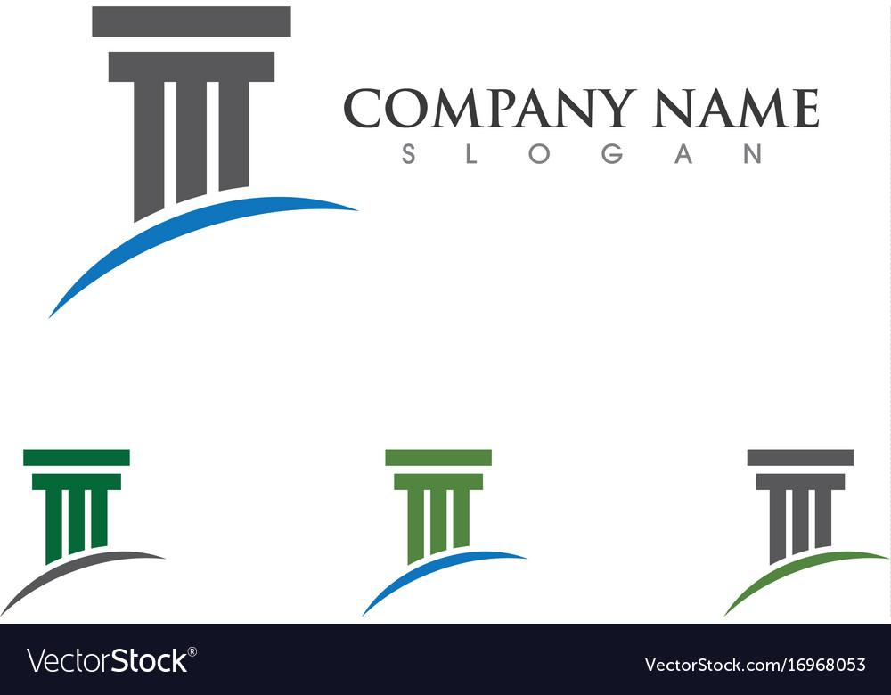 Column logo template vector image