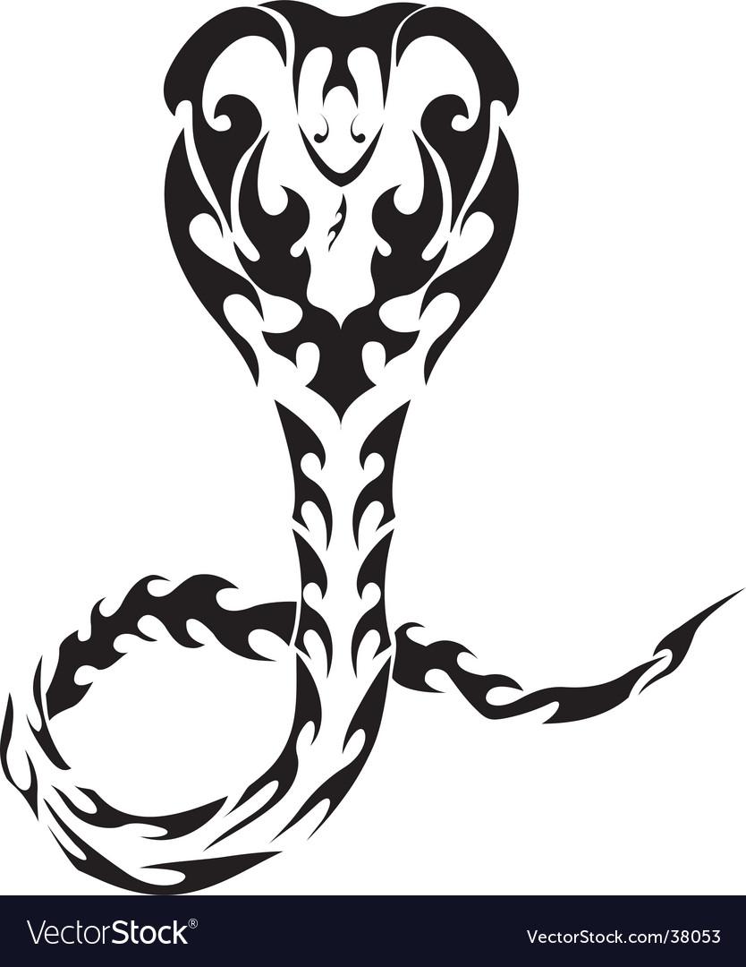 Snake tribal tattoo vector image