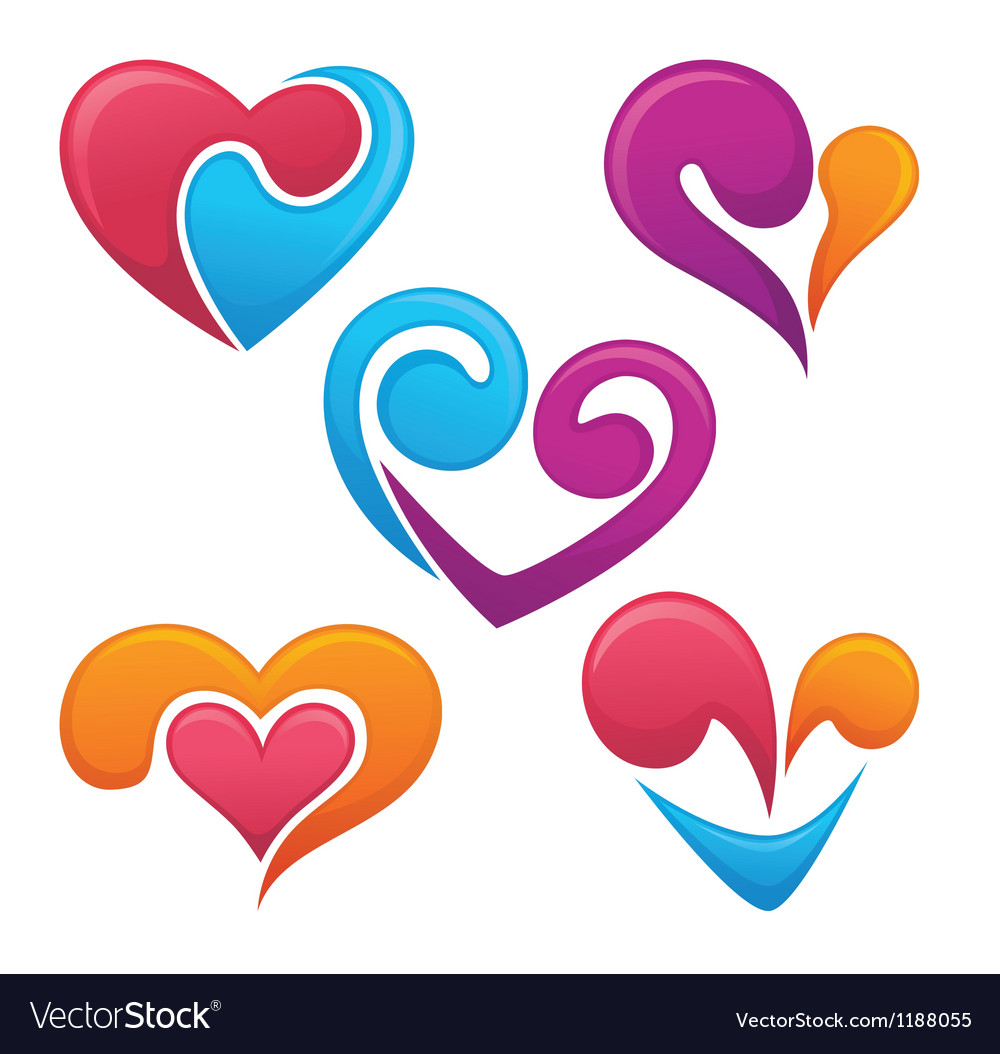 Bright love symbols and logo royalty free vector image bright love symbols and logo vector image buycottarizona Image collections