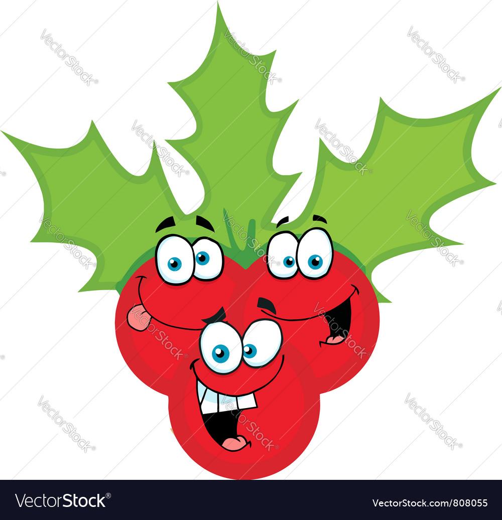 Christmas Holly Cartoon vector image