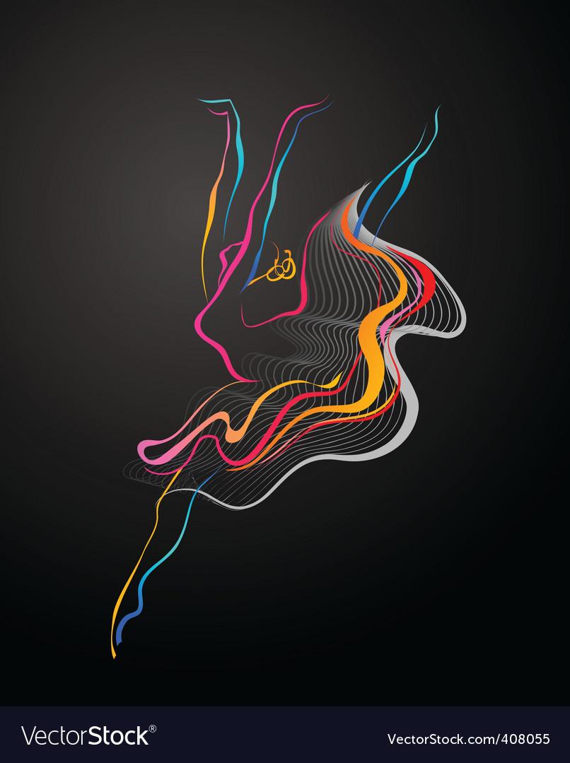 Dancer logo vector image
