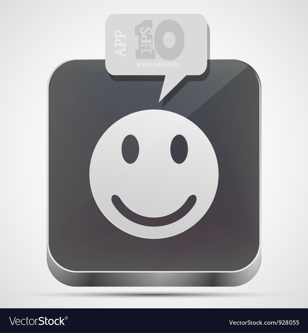 Face app icon vector image